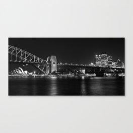 Sydney Australia B+W CityScape Canvas Print