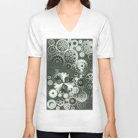 gears of war V-neck T-shirts featuring Steel gears by Gaspar Avila