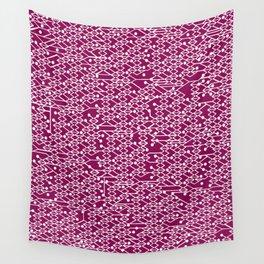 Microchip Pattern (Purple) Wall Tapestry