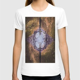 Vintage Timepiece In Space T-shirt