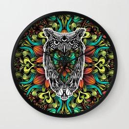 Owl color Wall Clock