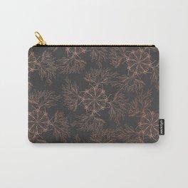 Elegant black rose gold floral mandala pattern Carry-All Pouch
