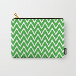 Key Lime Southern Cottage Ikat Chevrons Carry-All Pouch
