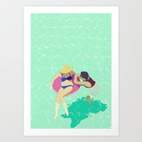 pool Art Prints featuring Pool by ministryofpixel