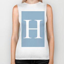 Letter H sign on placid blue color background Biker Tank