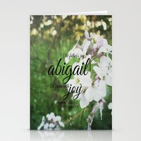 abigail larson Stationery Cards featuring Abigail by KimberosePhotography