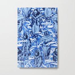 Eskimo Curlew Blue Metal Print