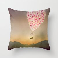 never stop exploring Throw Pillows featuring NEVER STOP EXPLORING V by Monika Strigel