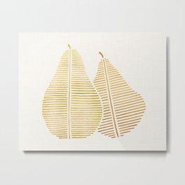 Golden Pears Metal Print