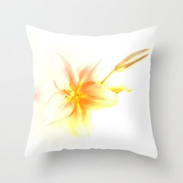 Pink and Yellow Tiger Lily - Dreamy Floral Photography - Flower Art Prints, T-shirts, Phone Cases... Throw Pillow
