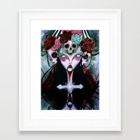 coven Framed Art Prints featuring Coven by Kao Lee Thao @InnerSwirl.com