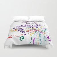 chill Duvet Covers featuring Chill by Sarah Soh