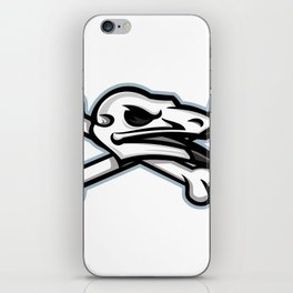 Vulture Skull Mascot iPhone Skin