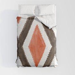 Del Rio Watercolor in Burnt Orange Comforters