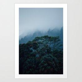 Haunted Hawaii Fog Art Print