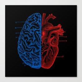 Heart and Brain Canvas Print