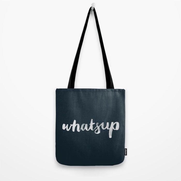 Whatsup - black Tote Bag