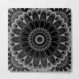 Monochrome Mandala Metal Print