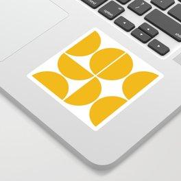 Mid Century Modern Yellow Square Sticker