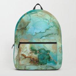 Alcohol Ink 'Mermaid' Backpack