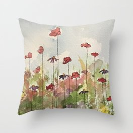 Edging the Garden Throw Pillow