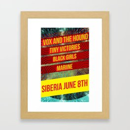 Vox and the Hound Live Show Poster Framed Art Print