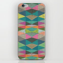 Colorblock Tribal Triangle Pattern iPhone Skin
