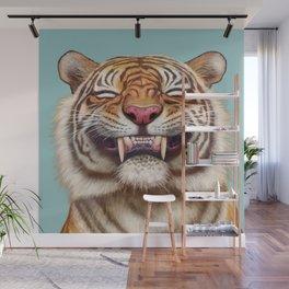 Smiling Tiger Wall Mural