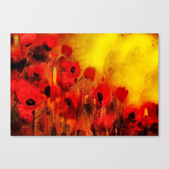 FLOWERS - Poppy reverie Canvas Print