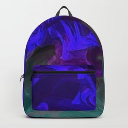 Colorful Fantasy Flowers Abstract 12 Backpack