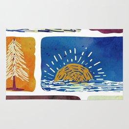 Outdoor Trip Watercolor Rug