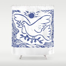 Pablo Picasso Dove Of Peace Lithgraph Limited Edition Artwork Shirt, Reproduction Shower Curtain