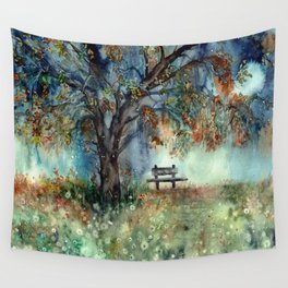 Moonlight Shadows Wall Tapestry