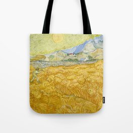 "Vincent van Gogh ""Wheat Field behind Saint Paul Hospital with a Reaper"" Tote Bag"