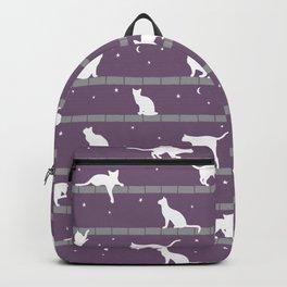 Cats Pattern (purple) Backpack