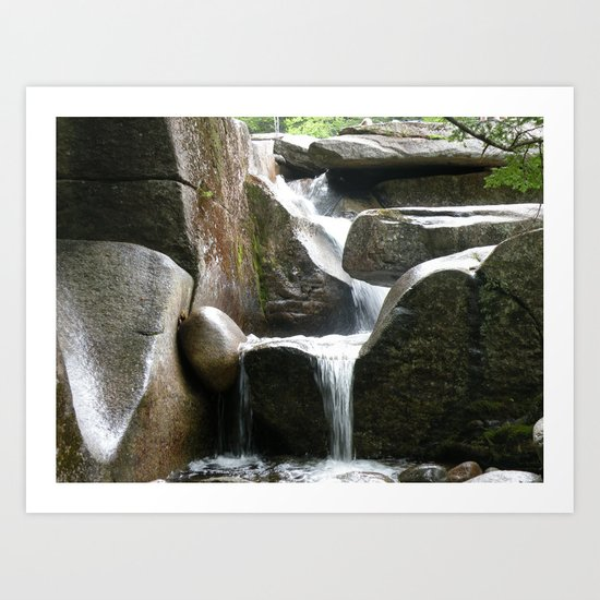 Rocky water fall Art Print