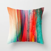 ice Throw Pillows featuring Ice Curtain by Klara Acel