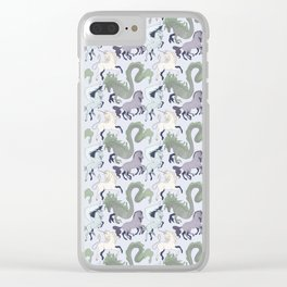 Horsy Creatures Clear iPhone Case