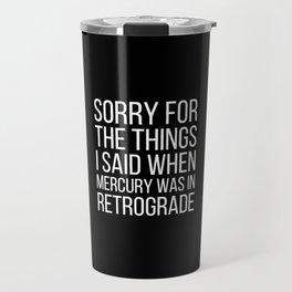 Mercury Retrograde Travel Mug