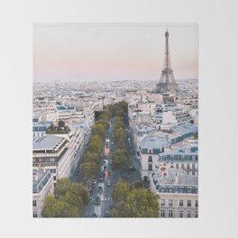 Paris City Throw Blanket