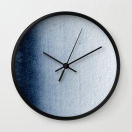 Indigo Vertical Blur Abstract Wall Clock