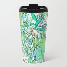 Improbable Botanical with Dinosaurs - soft pastels Travel Mug