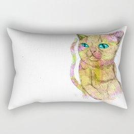 Coloured Cat Rectangular Pillow