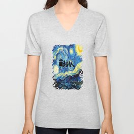 The Doctors Walking Of Starry Night Unisex V-Neck