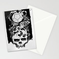 Dodecahedron Skull Stationery Cards