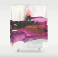 georgiana paraschiv Shower Curtains featuring Unravel by Georgiana Paraschiv