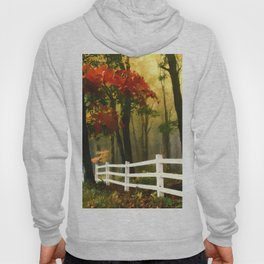 Fall scene with fence Hoody
