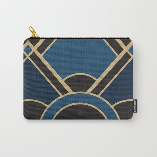 Art Deco New Tomorrow In Blue Carry-All Pouch
