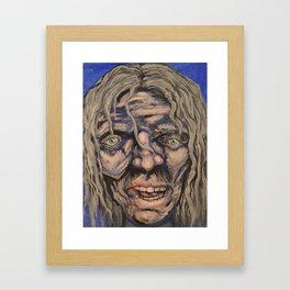 Ragged face Framed Art Print