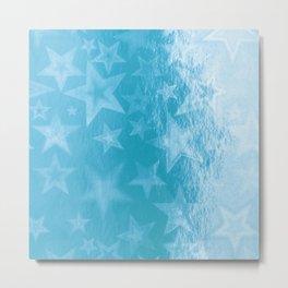 Sky Blue Starshine Metal Print